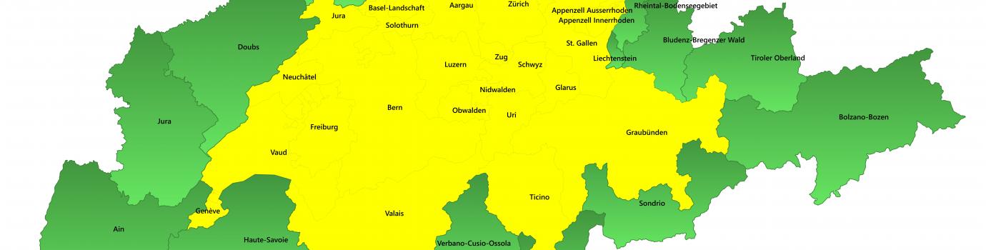 Blick auf die umliegenden Regionen der Schweiz